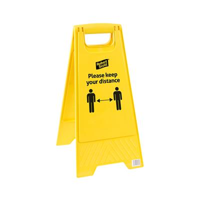 Keep Your Distance Floor Std Safety Floor Sign
